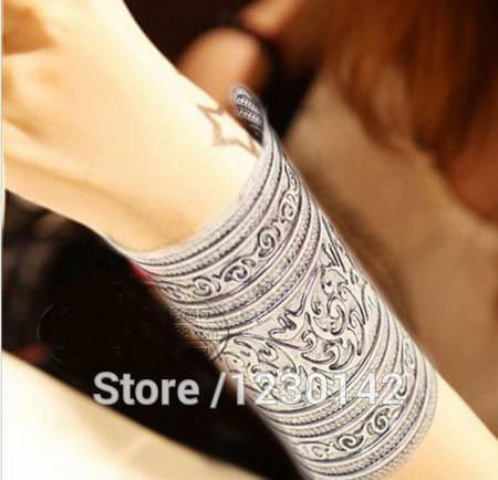 11526-60618eae007465634946f3f48a5b043e Extra Wide Warrior Princess Cuff Armband Bangle Bracelet Jewelry
