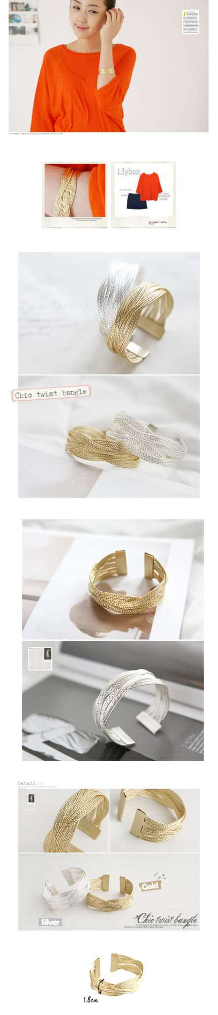 11528-aabf17d0ab4b7b3c7049d6322fedd0a3 Chic 18K Gold/Silver Plated Twisted Cuff Fashion Bracelets