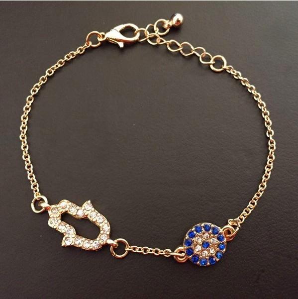 11530-0795b778239876bce022db6bbb0be7c2 Vintage Cubic Zircon Diamond Hamsa And Evil Eye Bracelet Jewelry
