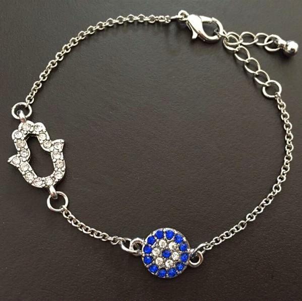 11530-22ceb4037c6d8979c8de2c19a9a6b532 Vintage Cubic Zircon Diamond Hamsa And Evil Eye Bracelet Jewelry