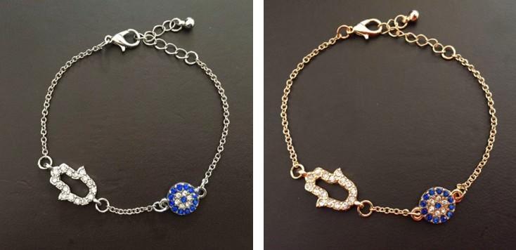 11530-34ddfabc56ff0a0a58673b662cba9165 Vintage Cubic Zircon Diamond Hamsa And Evil Eye Bracelet Jewelry