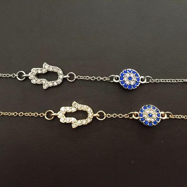 11530-e46c2820b4ae8f7364d00a4ecab4bd4e Vintage Cubic Zircon Diamond Hamsa And Evil Eye Bracelet Jewelry