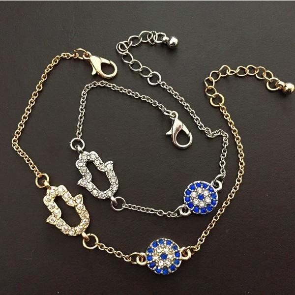 11530-fd158fc4b497beda0c00233763a3d0c5 Vintage Cubic Zircon Diamond Hamsa And Evil Eye Bracelet Jewelry