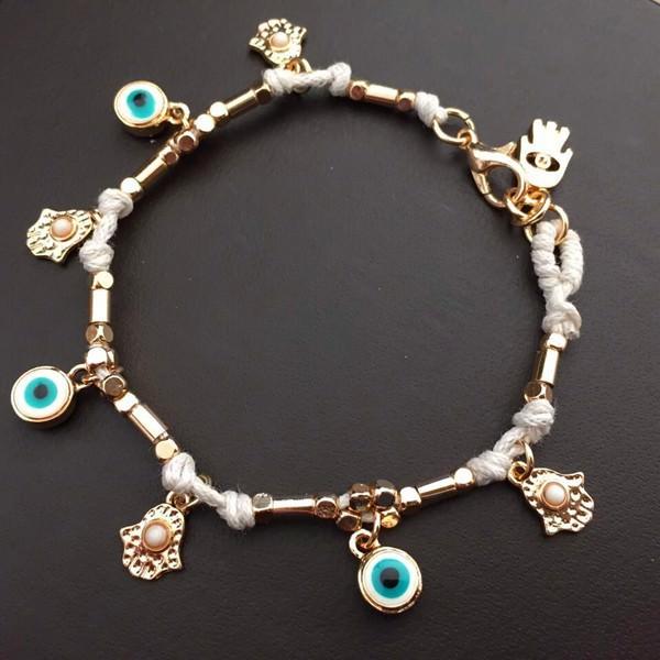 11532-01c43068c02f24b2ddb71de3ce4e72bc Ancient Hamsa And Big Eye Charm Bracelet Jewelry