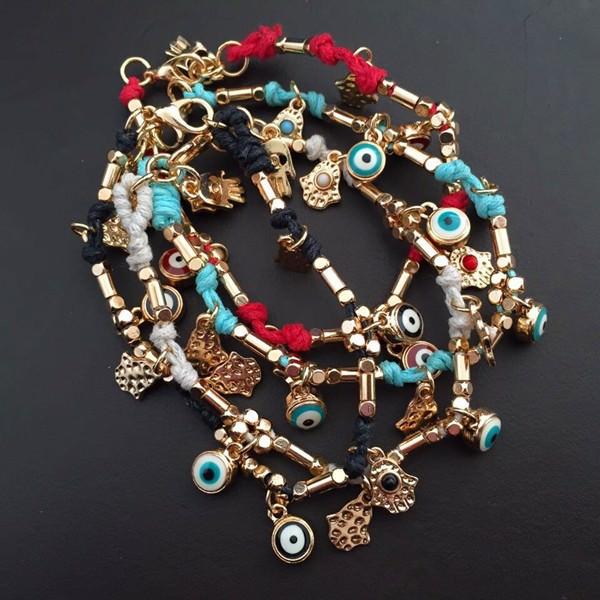 11532-3632a6dad70f4fb6663ed20b04ff650f Ancient Hamsa And Big Eye Charm Bracelet Jewelry