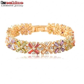 LZESHINE Colorful Radiation Shaped Flower Bracelet Jewelry