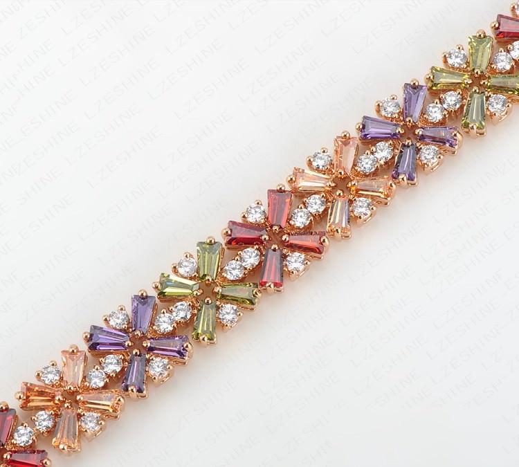 11536-eb26a5cb56a24df3225168eaae2698cb LZESHINE Colorful Radiation Shaped Flower Bracelet Jewelry