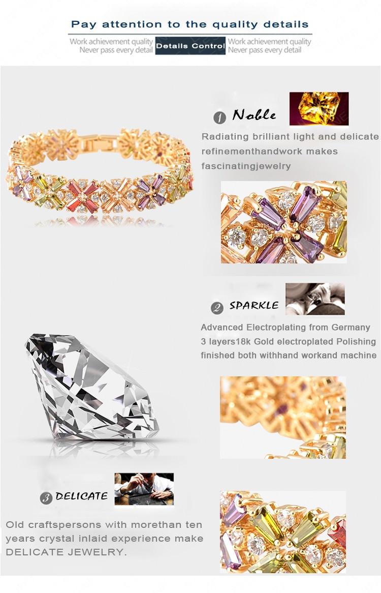 11536-f5aecb2d11d4ebcec4b6d1343b54fc49 LZESHINE Colorful Radiation Shaped Flower Bracelet Jewelry