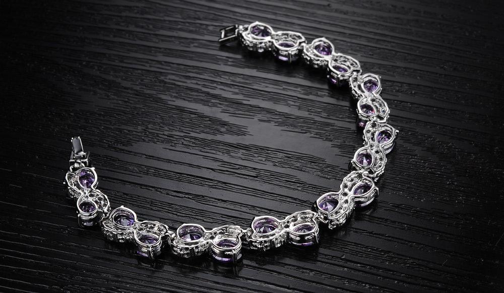 11537-817dd6cb5736ab7d98e635e16767fd74 Romantic Big Purple Oval Crystal Filled Bracelet Jewelry For Women
