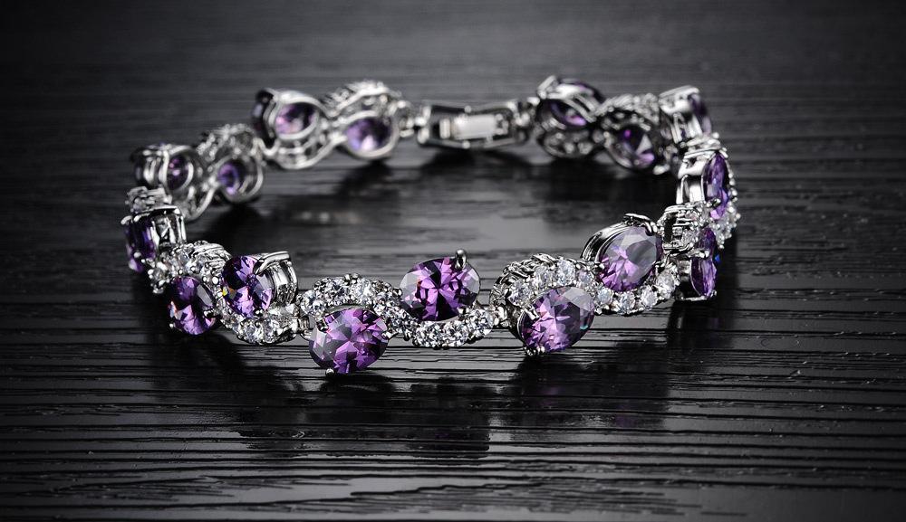 11537-ba98c9639678c3239b8be901214017ba Romantic Big Purple Oval Crystal Filled Bracelet Jewelry For Women