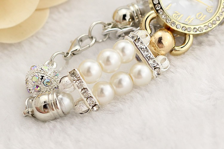 11542-24cf1ebe76ff6fabc1b2e072b92f8111 Ornate Watch Bracelet Jewelry With Pearls And Cubic Zirconia