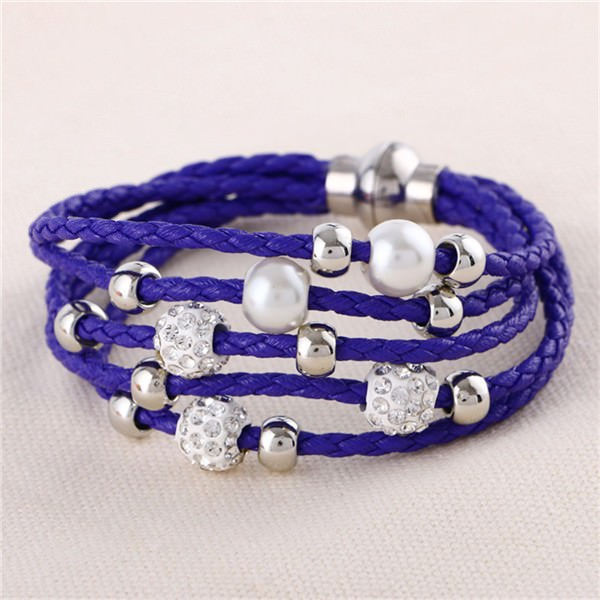 11543-280c7e41c07d7d86fe7ab6f84aca0b26 European And American Fashion Leather Bracelet Jewelry With Charms