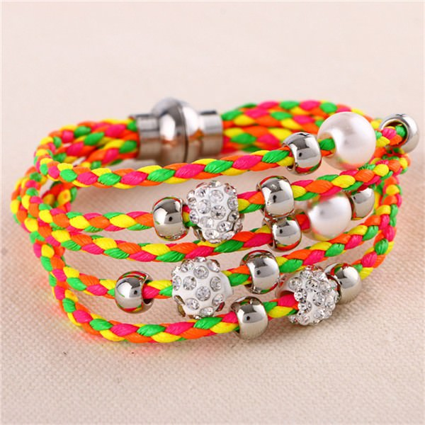 11543-36b72d1fced9ae4e793bc40ddb324f42 European And American Fashion Leather Bracelet Jewelry With Charms