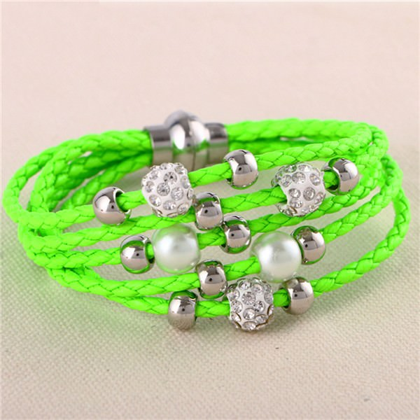 11543-5542267c952f3fdf40e167d12b8c06fe European And American Fashion Leather Bracelet Jewelry With Charms