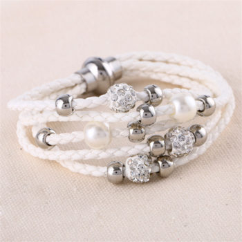European And American Fashion Leather Bracelet Jewelry With Charms