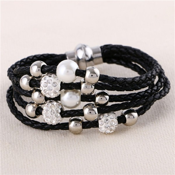 11543-8af33c0a7abbb769726dbf0f5977cc8e European And American Fashion Leather Bracelet Jewelry With Charms