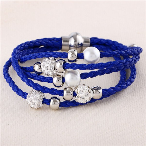 11543-966b864e7098003d40e82314028a88ee European And American Fashion Leather Bracelet Jewelry With Charms