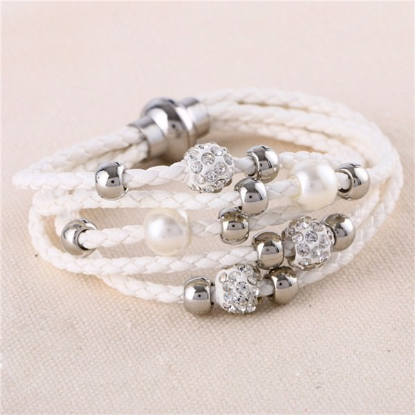 11543-d0c16d9a48f7014428612e899358c4f7 European And American Fashion Leather Bracelet Jewelry With Charms