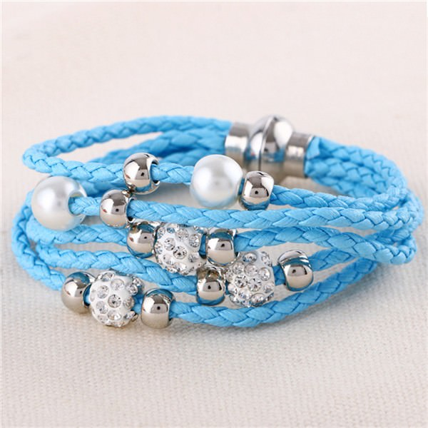 11543-ee18a9ef14d481cfb3a578893e4f9460 European And American Fashion Leather Bracelet Jewelry With Charms