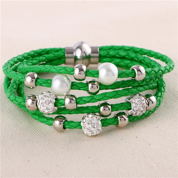 11543-f7a3524976f2ba3c21b2f6ec79a8b33c European And American Fashion Leather Bracelet Jewelry With Charms