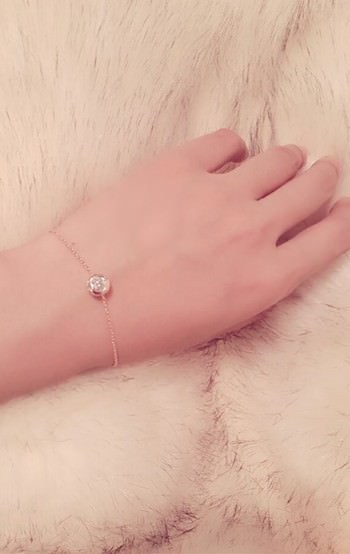 11544-b93c872e62ed183c975061a982befb9a Gold Plated Thin Chain Bracelet With Round Zircon Accent