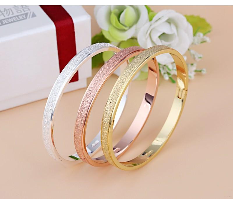 11547-22d567ba130d314521634962063cb572 Stylish Frosted Bangle Bracelet Jewelry For Women