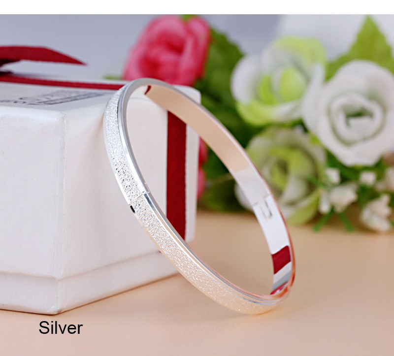11547-28a25fd113f784ebba1996c703493c34 Stylish Frosted Bangle Bracelet Jewelry For Women