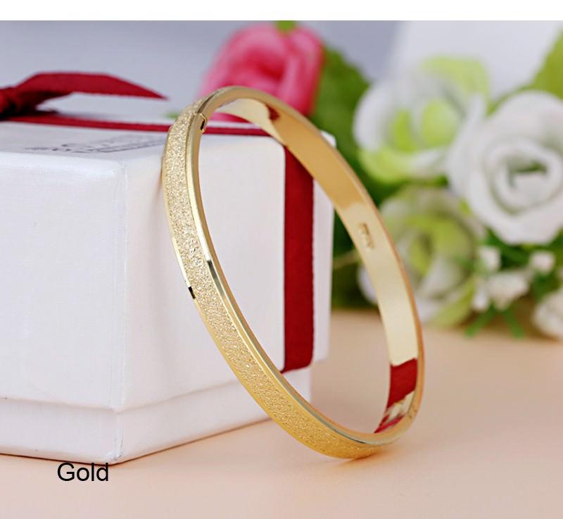 11547-4816f71cbfffa8e680fba342d014a06e Stylish Frosted Bangle Bracelet Jewelry For Women