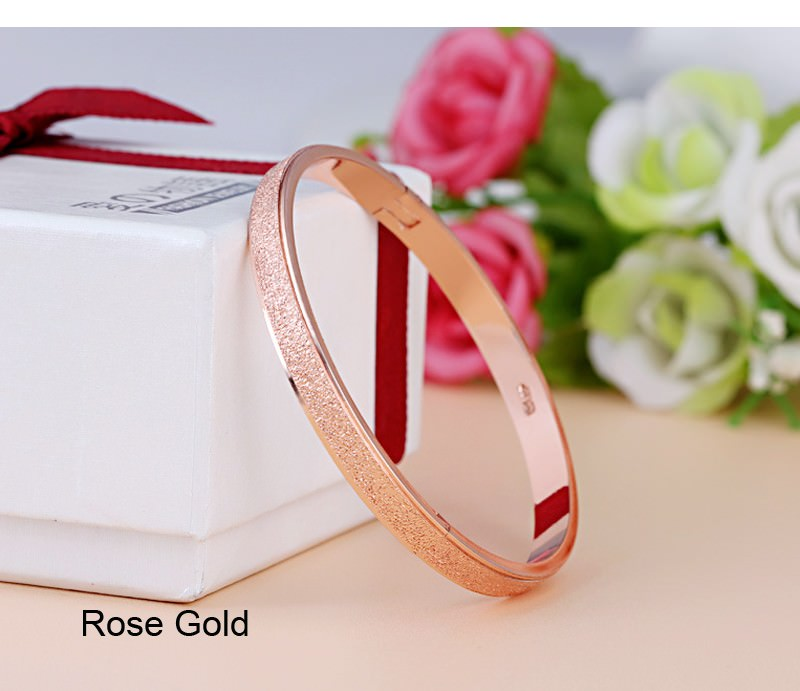 11547-50f74af88ef26704f854f751fad2e930 Stylish Frosted Bangle Bracelet Jewelry For Women