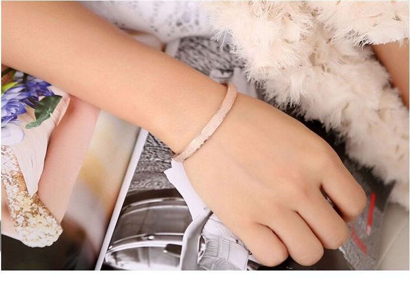 11547-55826eb6a2e46fef68b1f9bf8ed615e5 Stylish Frosted Bangle Bracelet Jewelry For Women