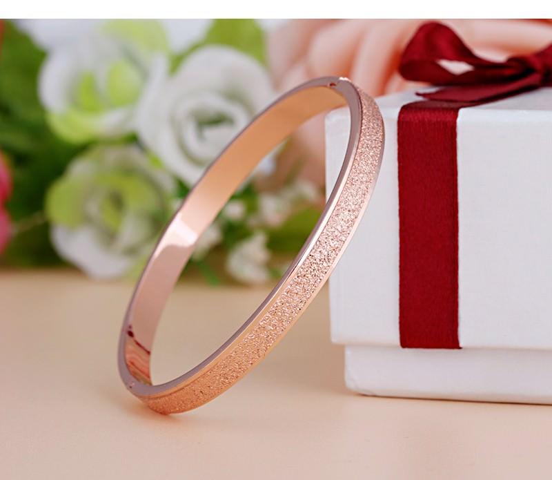 11547-77c1181a6c637de3800088a423e6d2f3 Stylish Frosted Bangle Bracelet Jewelry For Women