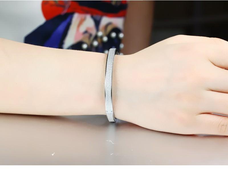 11547-9ea61ce32308ebb33d554789d249ecc7 Stylish Frosted Bangle Bracelet Jewelry For Women