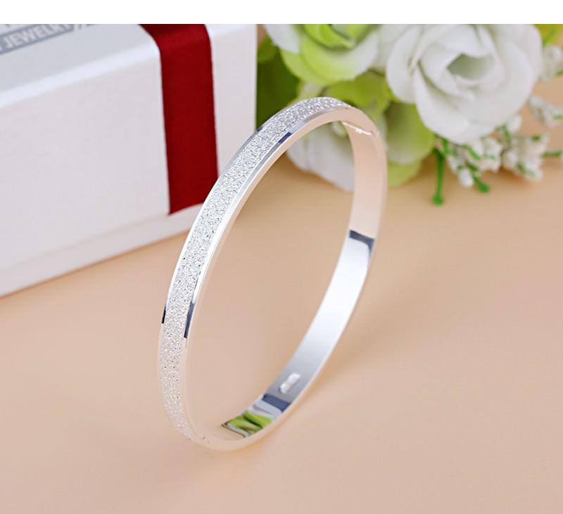 11547-b238bda2af18d8069f122d95b59a08e9 Stylish Frosted Bangle Bracelet Jewelry For Women