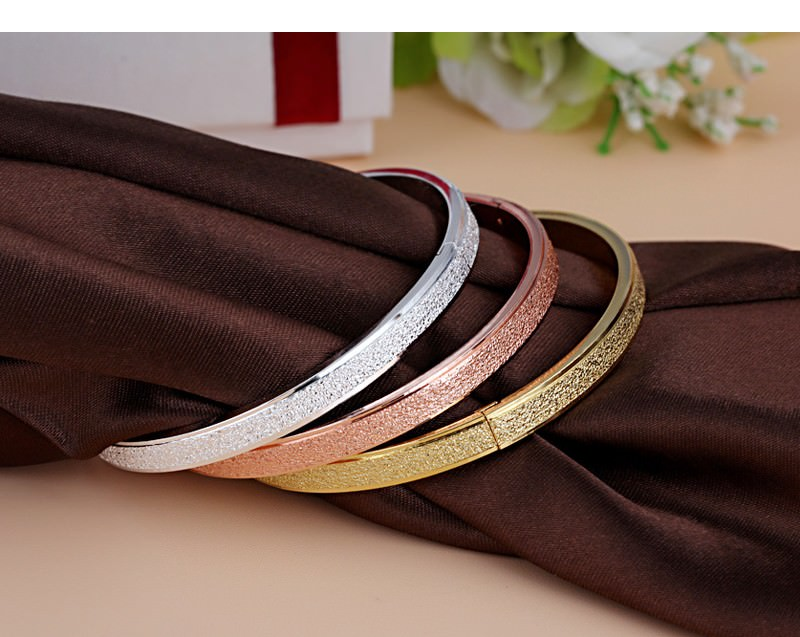 11547-bd7e02f241cee77b06acec806d062a43 Stylish Frosted Bangle Bracelet Jewelry For Women