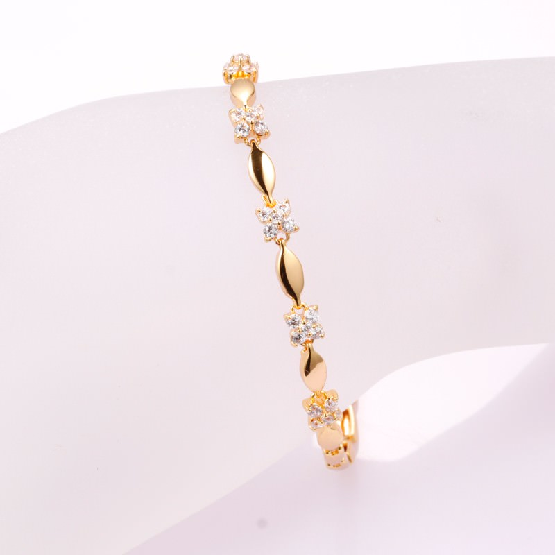 11548-14fcb2f4cec23f10aa9a545926761288 Luxury 18K Gold Plated Chain Bracelet for Women White AAA Cubic Zircon Wedding Crystal Jewelry