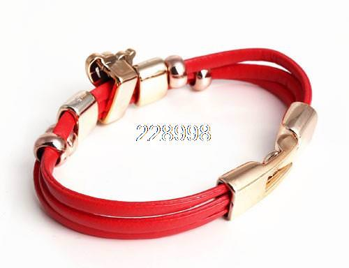 11549-29a77d4384aeec8f61fd9bd545abfd6d Three Tier Leather Bracelet Jewelry With Golden Butterfly Accent