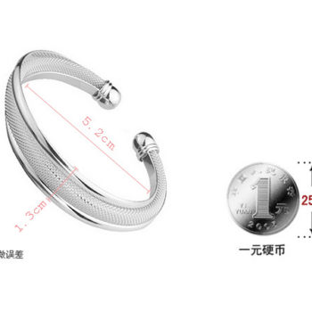 Fashion Silver Plated And Mesh Bangle Bracelet Jewelry