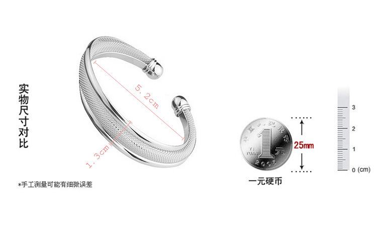 11550-12c648a266f57d242e285c950bbd4310 Fashion Silver Plated And Mesh Bangle Bracelet Jewelry