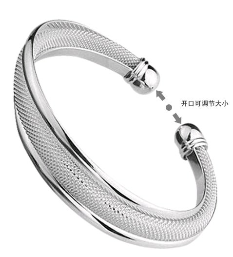 11550-7c122f91a291c1667e5d0dfb4dffb74b Fashion Silver Plated And Mesh Bangle Bracelet Jewelry