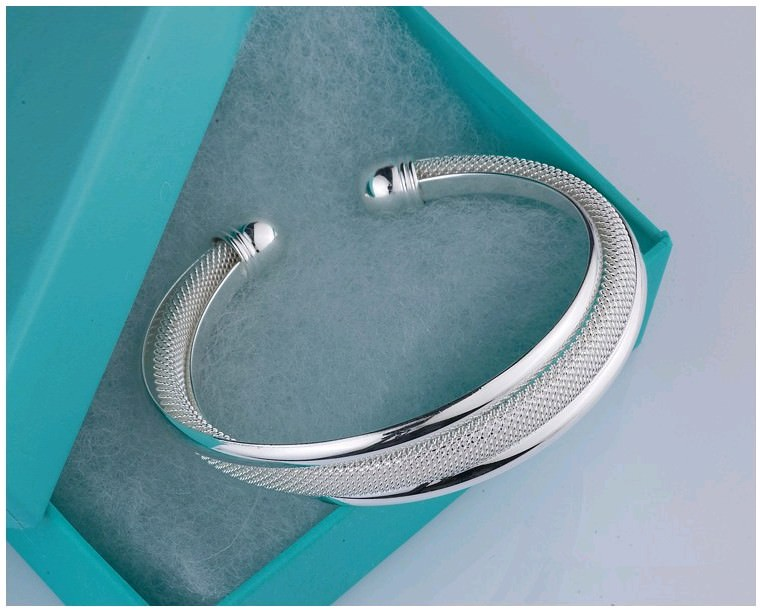 11550-8b68bcc9ae884c1990fe00f385686ff2 Fashion Silver Plated And Mesh Bangle Bracelet Jewelry
