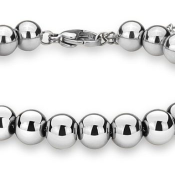 Trendy Stainless Steel Beaded Bracelet Jewelry In Silver/Rose Gold/Gold