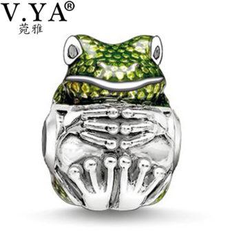 Pandora Compatible Frog Bead Charm For Bracelets Or Necklaces