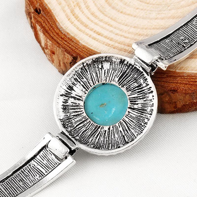 11554-0b024da979bcb2402c6e28e66eb9b23a Vintage Bohemian Turquoise Adjustable Bracelet Jewelry