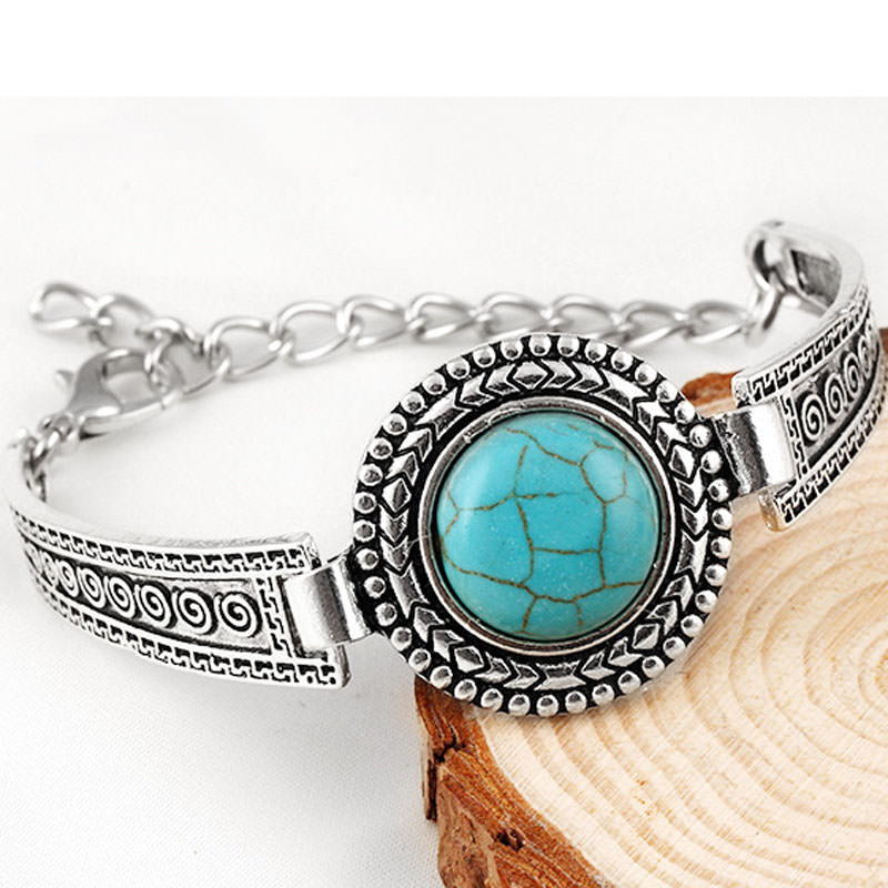 11554-449a3b4653b58d572dfc206ee90db488 Vintage Bohemian Turquoise Adjustable Bracelet Jewelry
