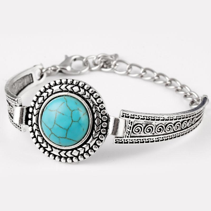 11554-4f90bee87ed0951dc9dec81e31b72ef6 Vintage Bohemian Turquoise Adjustable Bracelet Jewelry