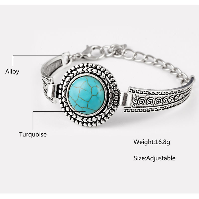 11554-819031ba0877ccc7c9a7fed68a7d5acd Vintage Bohemian Turquoise Adjustable Bracelet Jewelry