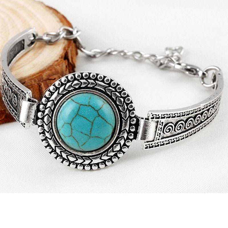 11554-9434219dc0eddc56730ff86cbd0597aa Vintage Bohemian Turquoise Adjustable Bracelet Jewelry