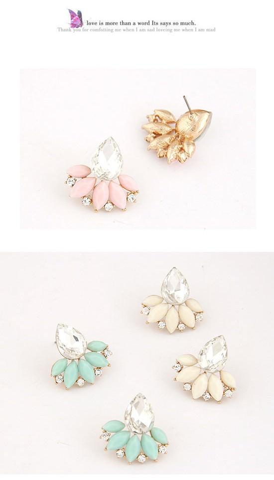 11558-1329471f7b072c9c23e64644f71f7ca1 Exquisite Retro Design Push Back Cubic Zircon Earring Jewelry