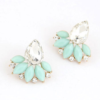 Exquisite Retro Design Push Back Cubic Zircon Earring Jewelry