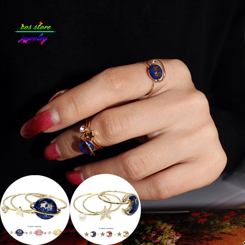 11560-04a2d8009277570fccc10930ec2bfe43 Japanese Style Universe Fake Earring Jewelry Set